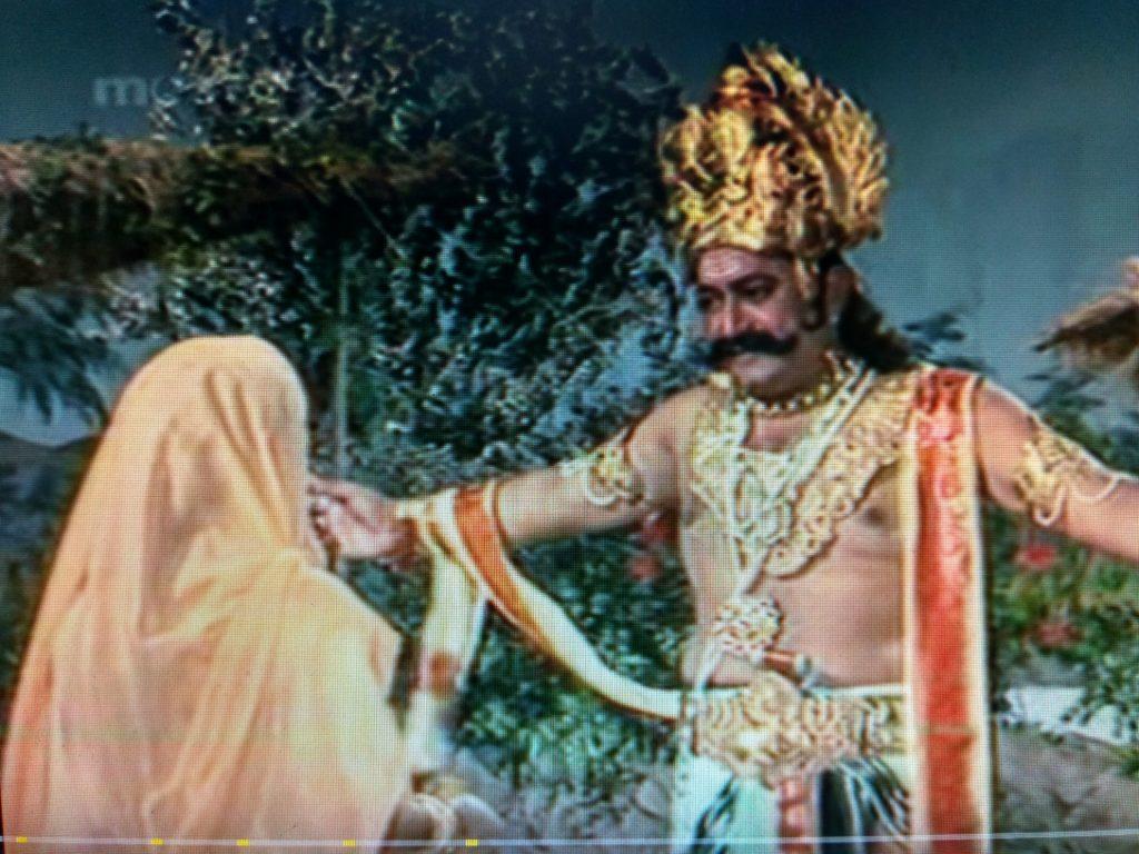 Ramayana lessor known facts, Ravana with goddess Sita